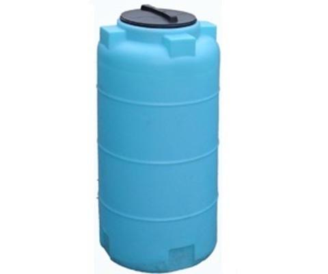 Емкость цилиндрическая 780л с фланцем и крышкой с клапанами (Синий), (750 х 1930 мм), [780ВФК2]