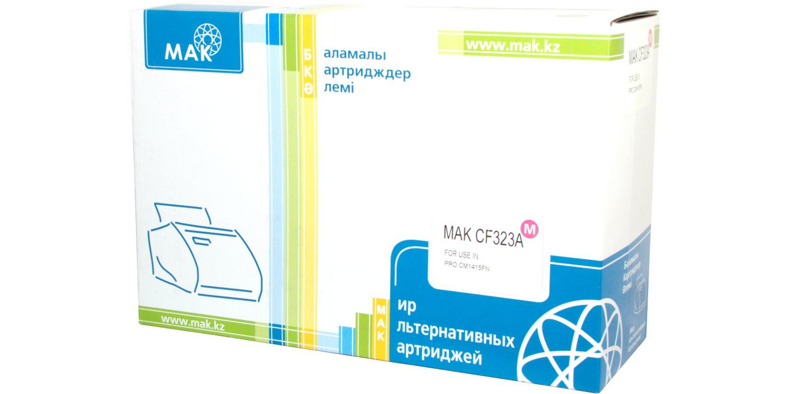Картридж лазерный цветной MAK© 653A CF323A пурпурный (magenta), до 16500 стр.