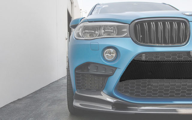 Карбоновая накладка на центральную часть переднего бампера  для BMW X5M F85