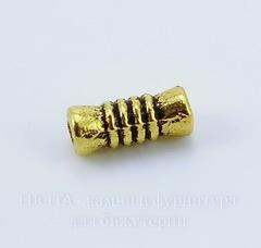Бусина металлическая - трубочка