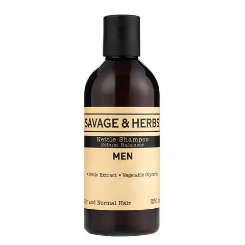 Мужской травяной шампунь для жирных волос из крапивы