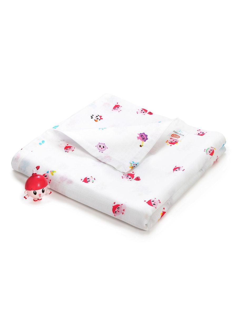 Двухслойное муслиновое одеяло малышарики