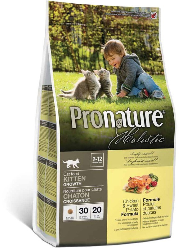 Pronature Корм для котят, Pronature Holistic, с курицей и сладким картофелем Pronature_Holistic_курица_со_сладким_картофелем.jpg