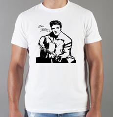Футболка с принтом Элвис Пресли ( Elvis Presley) белая 0014