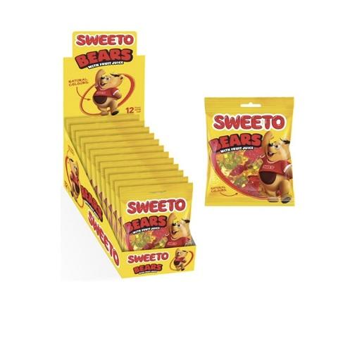 Мармелад в пакетиках SWEETO BEARS МИШКИ 1кор*6бл*12шт 80гр.