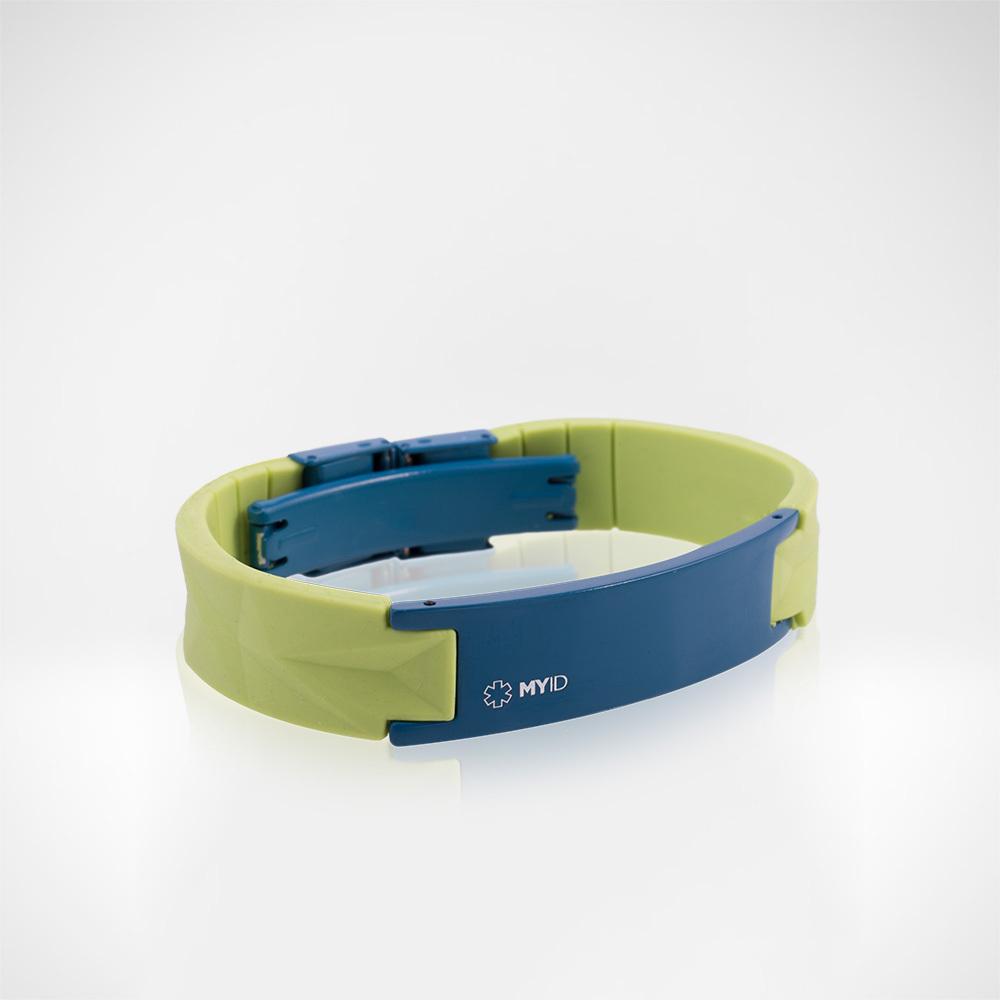 Браслет Lifestrength T1i New MyID luxe зелено/голубой