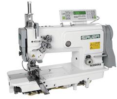 Фото: Автоматическая двухигольная прямострочная швейная машина для выполнения кармана T828-42-127KL/C