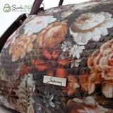 Сумка Саломея 278 цветы марсала лак