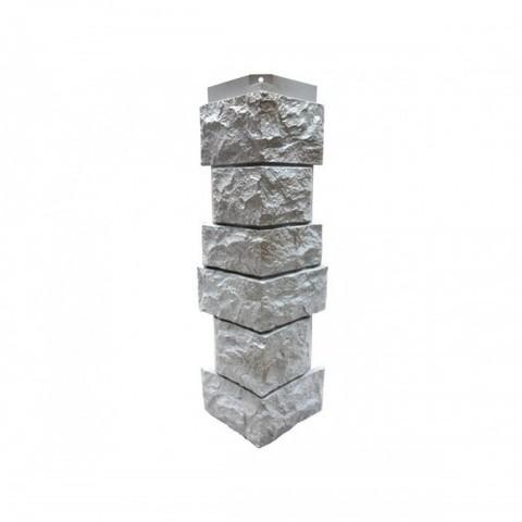 Угол наружный к Фасадным Панелям Norside (Нордсайд) Северный Камень Серый