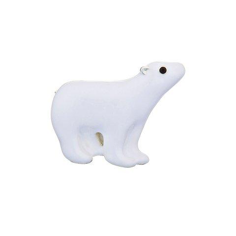 Брошь Белый медведь FAN-07459.1 BW/S