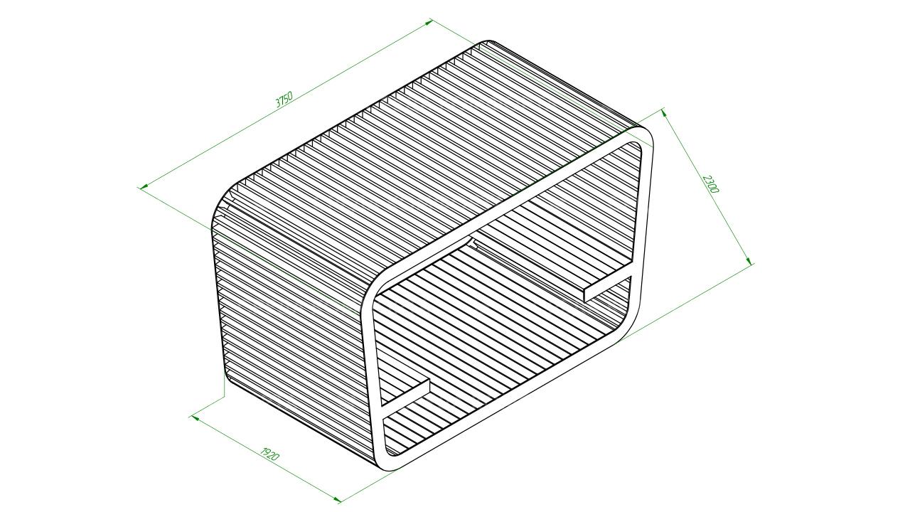 Скамейка с навесом SCAM0108
