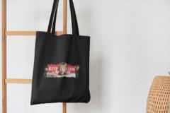 Сумка-шоппер с принтом Один дома, Кевин Маккаллистер, Гарри и Марв (Home Alone) черная 004
