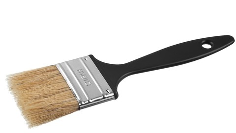 Кисть плоская СИБИН, пластиковая ручка, светлая смешанная щетина, 63мм