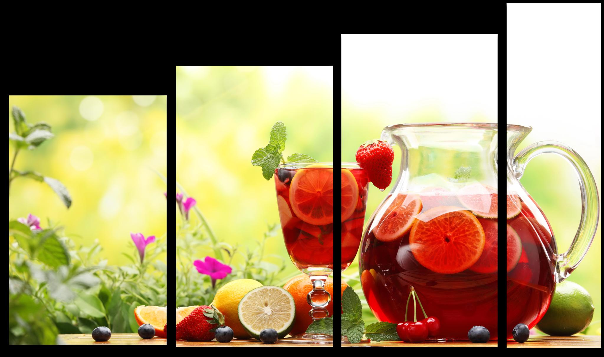"""Цветы Модульная картина """"Цитрусовый напиток"""" М267.png"""