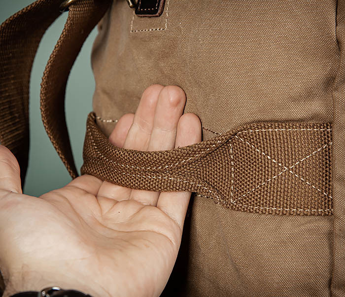 BAG500-2 Большая дорожная сумка из ткани коричневого цвета фото 05