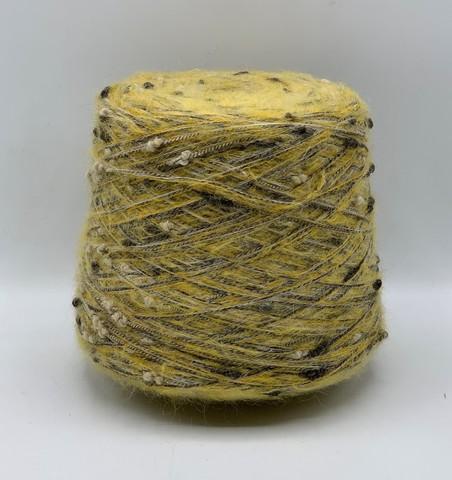 Бобинная пряжа  (пр.Италия), 200м/100гр. 60%мохер  40%остальные волокна , цвет-Желтый, арт.5404
