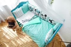 Комплект постельного белья Микки Мятный
