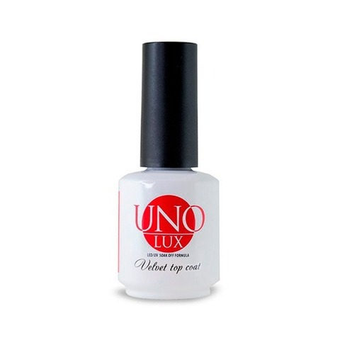 Топ для гель-лака UNO Lux Velvet Top Coat, 15 мл