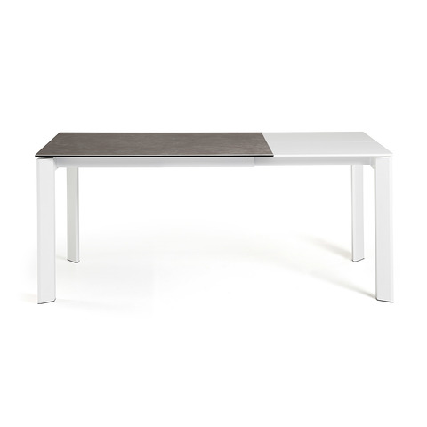 Стол Atta 120 (180) x80 белый керамика