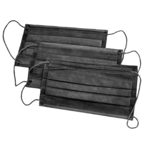 Маска медицинская 3 слоя, черная (50шт)
