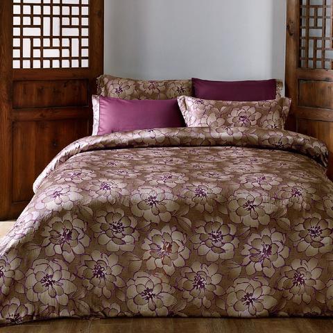 Постельное белье GRACE  бордовый  TIVOLYO HOME Турция