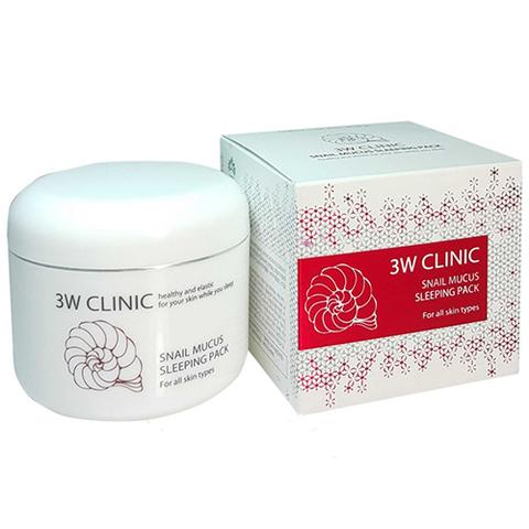3W Clinic Snail Mucus Sleeping Pack маска ночная с муцином улитки