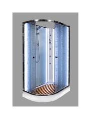 Душевая кабина DETO ЕМ1511 R N 110х80 см с LED-подсветкой и гидромассажем