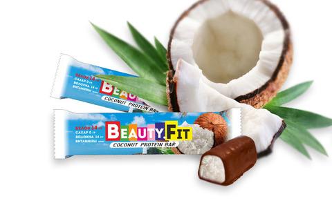Протеиновый батончик «Beauty.Fit» Кокос в шоколаде, без сахара 60 г