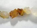 Бусина из агата халцедонового, фигурная, 8x10 - 8x10 мм (природная форма)