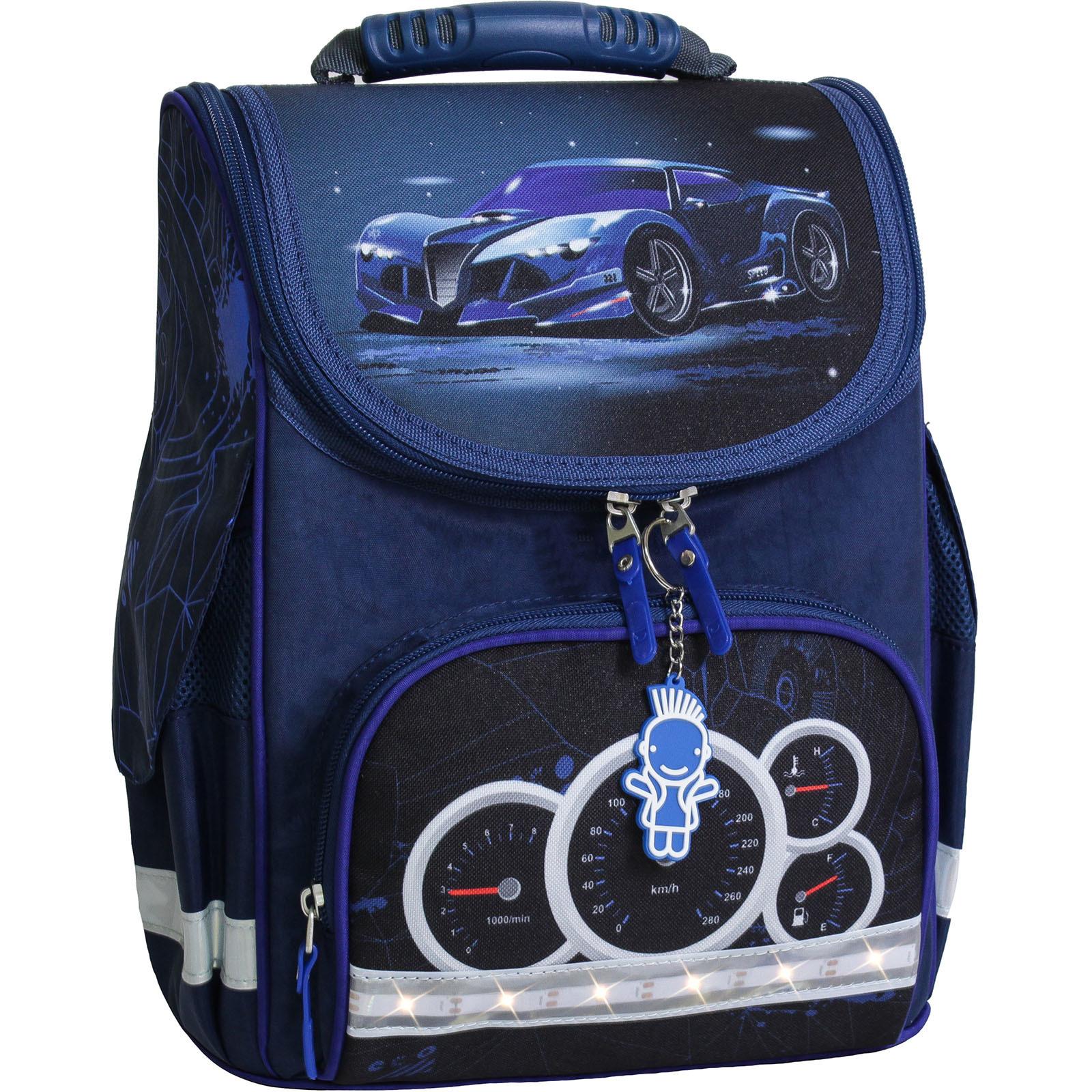 Школьные рюкзаки Рюкзак школьный каркасный с фонариками Bagland Успех 12 л. синий 248к (00551703) IMG_7969-1600.jpg