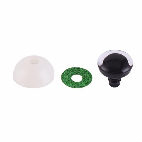 Глазки для мягкой игрушки с блестками 20 мм зеленый