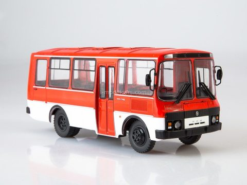 PAZ-3205 red-white 1:43 Modimio Our Buses #2