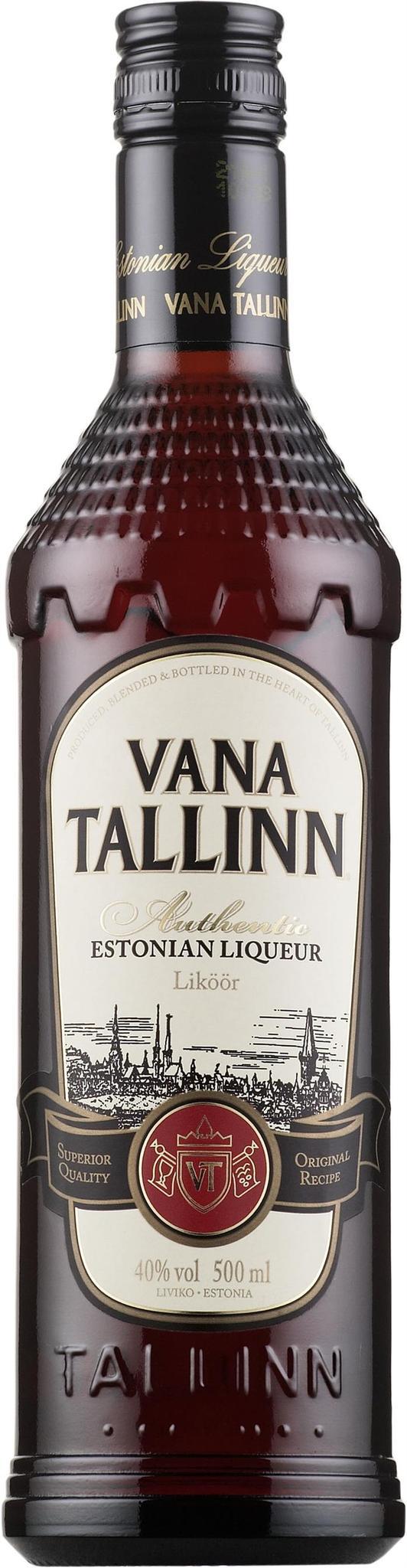 ЛИКЕР СТАРЫЙ ТАЛЛИНН (VANA TALLINN) ОРИГИНАЛЬНЫЙ 0.5л 40%