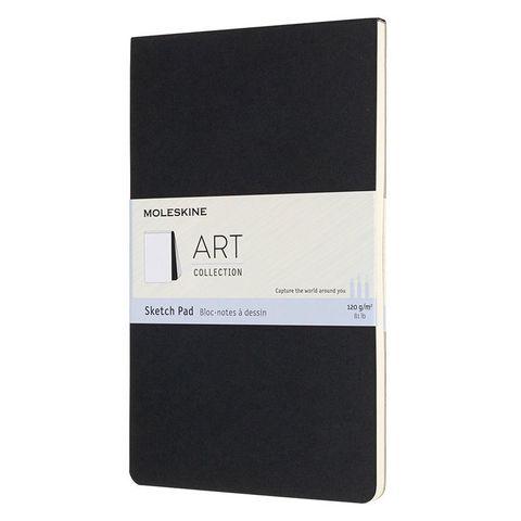 Блокнот для рисования Moleskine ART SOFT SKETCH PAD ARTSKPAD3 Large 130х210мм 88стр. мягкая обложка черный