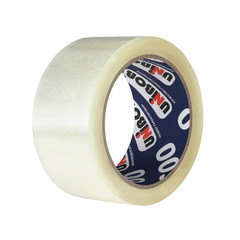Скотч клейкая лента упаковочная Unibob прозрачная 48 мм x 66 м толщина 45 мкм