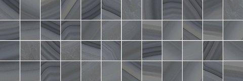 Декор Agat мозаичный серый 20x60 MM60085