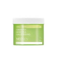 Пилинг-пэды с зелёным чаем NEOGEN Green Tea Moist PHA Gauze Peeling 30ea