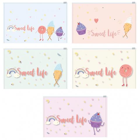 Папка-конверт на молнии  Z-L Attache Selection Sweet life А5 200мкм  5шт/уп