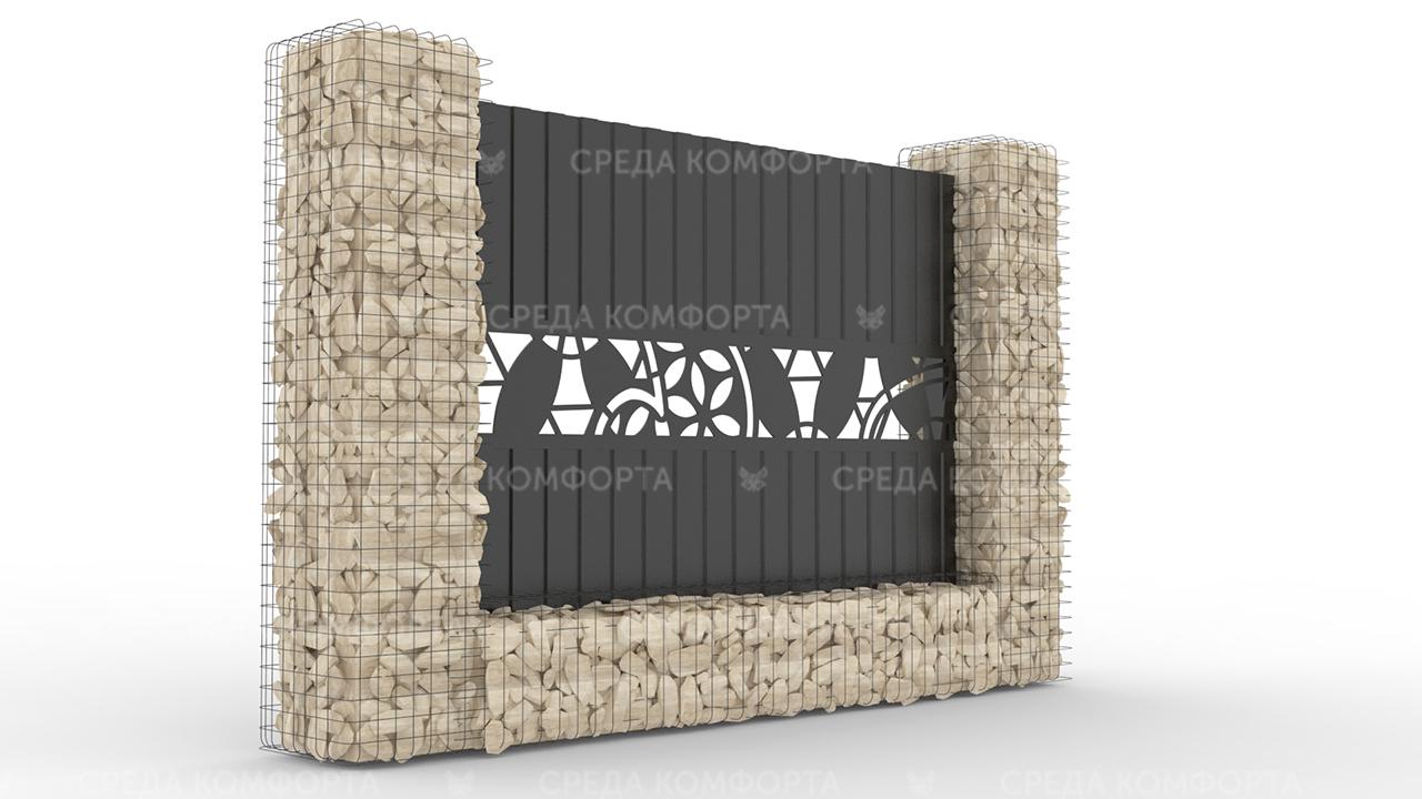 Забор из профлиста 2500х2000 мм ZBR0032 (ворота)