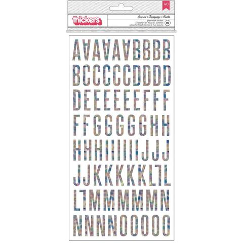 Чипборд на клеящейся основе Алфавит
