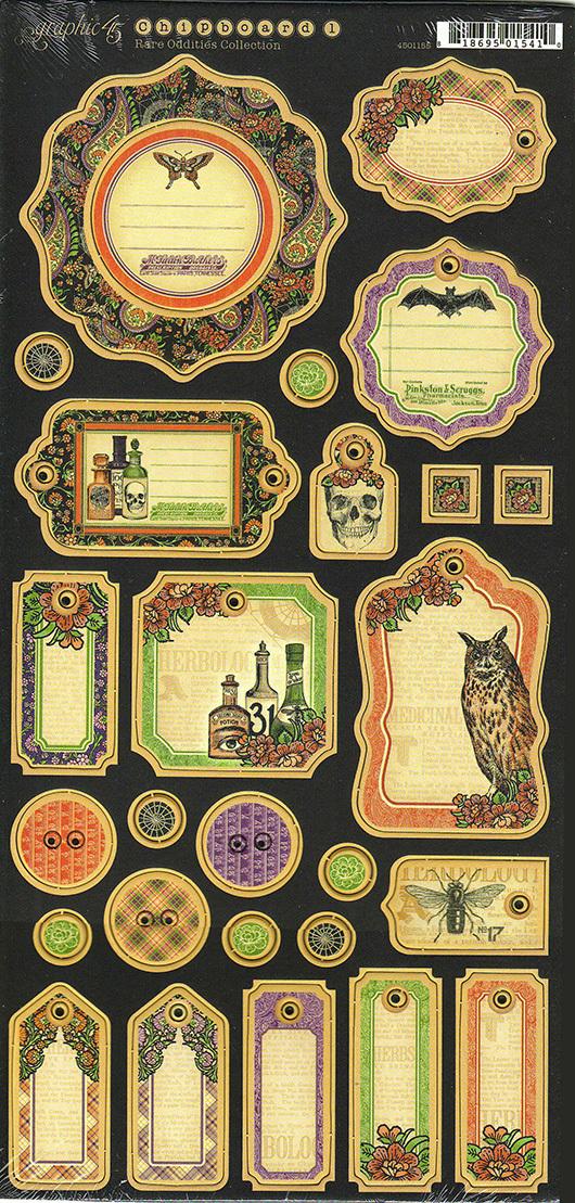 Чипборд Rare Oddities Graphic 45