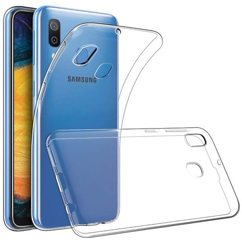 Чехол силиконовый для Samsung Galaxy A20, Прозрачный