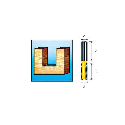 Пазовая фреза с двумя режущими кромками 8*32*20*8 мм