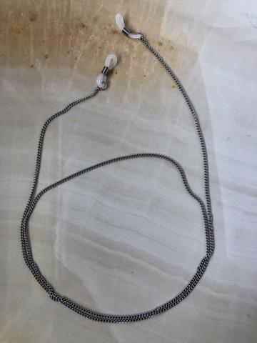 Цепочка для очков Лара, серебряный цвет