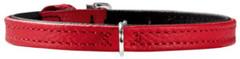 Ошейник для собак Hunter Tiny petit 24 (16,5-20,5 см), кожа, красный