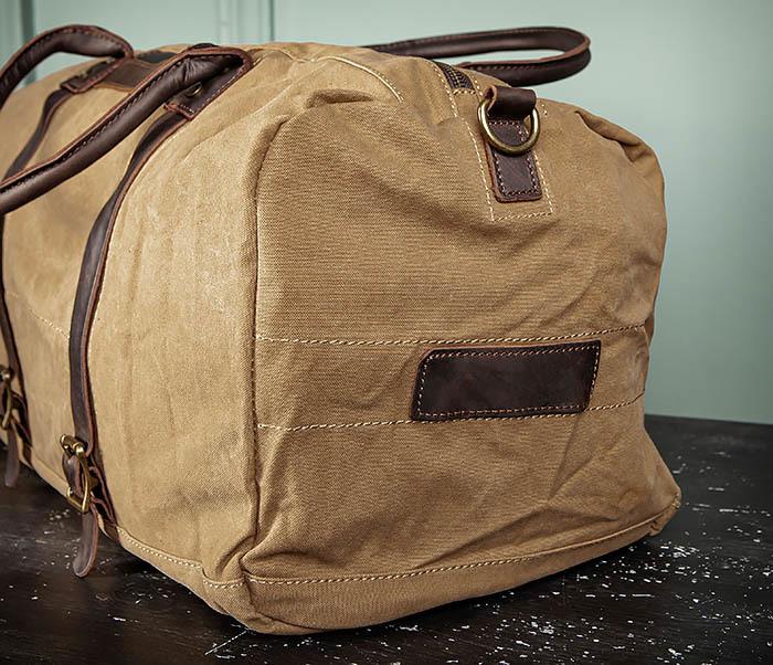 BAG500-2 Большая дорожная сумка из ткани коричневого цвета фото 09