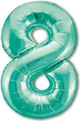 Р Цифра, 8, Slim, Бискайский зеленый, 40''/102 см, в упаковке 1 шт.
