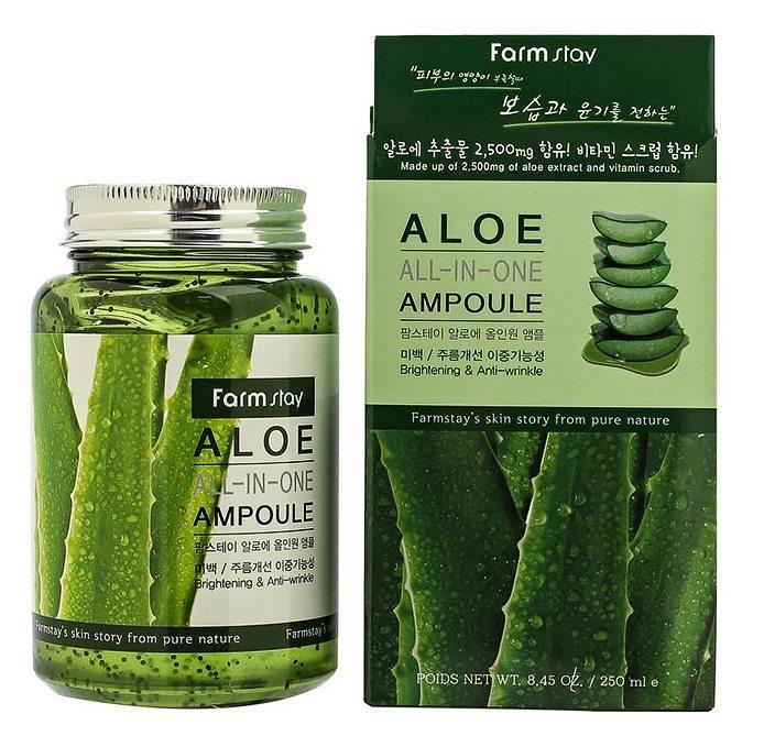 Многофункциональная ампульная сыворотка FarmStay All-In-One Aloe Ampoule с экстрактом алоэ