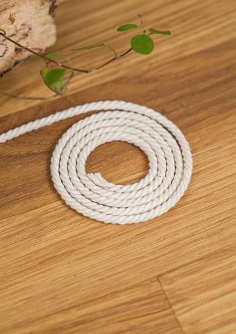 Хлопковый витой шнур экрю 2 и 3 мм