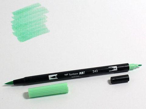 Маркер-кисть Tombow ABT Dual Brush Pen-243, мятный